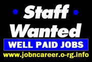 Cash JOB Offers,  Part Time Staff Wanted.