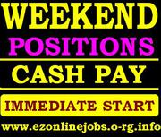 OFFERED CASH Jobs (Urgent Staff Required)