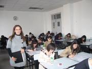 Female English/Italian teacher and exhibition representative in China
